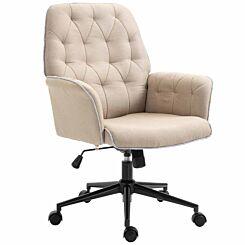 Caversham Tufted Office Chair Cream