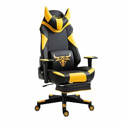 Hurworth Racing Gaming Chair with Footrest Yellow