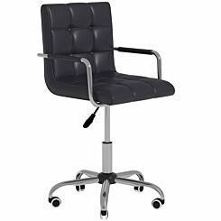Allegra PU Leather Adjustable Swivel Office Chair Black