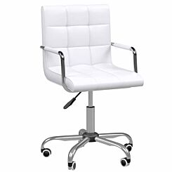 Allegra PU Leather Adjustable Swivel Office Chair White