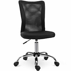 Luciana Armless Office Chair with Mesh Back Black