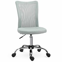 Luciana Armless Office Chair with Mesh Back Grey