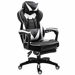 Lydia Ergonomic Reclining Gaming Chair with Manual Footrest