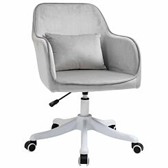 Ophelia Velvet Tub Office Chair with Massage Pillow