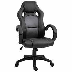 Virginia PU Racing Style Gaming Chair Grey