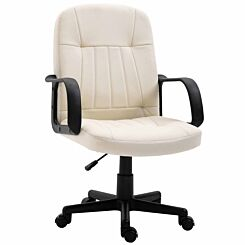 Loughty PU Leather Home Office Chair White