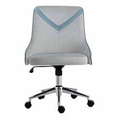 Forbes Home Office Velvet Chair Light Blue