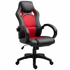 Neville PU Leather Gaming Chair Red