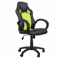 Neville PU Leather Gaming Chair Green