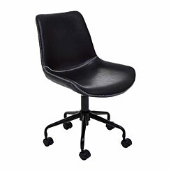 Interiors by PH Leather Effect Office Chair Black