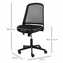 Sianna Mesh Mid Back Office Chair Black