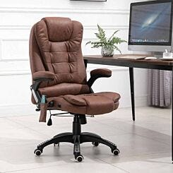 Agar Faux Leather Executive Chair with Heating and Massage Function