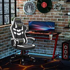 Alma Faux Leather Gaming Chair with Lumbar Support