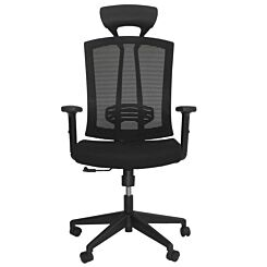 Jardin Office Chair with Fabric Seat and Mesh Back