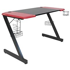 Principale Gaming Desk with Black and Red Top