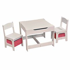 Liberty House Toys Table and Chair Set with Storage Bins