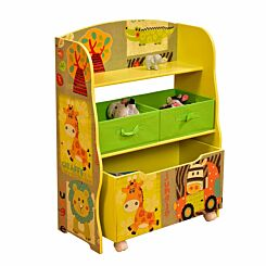 Liberty House Toys Safari Storage Shelf with Toy Box