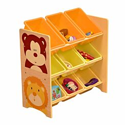 Liberty House Toys Jungle Toy Shelf with 9 Storage Bins