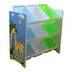 Liberty House Toys Savannah Toy Shelf with 9 Storage Bins