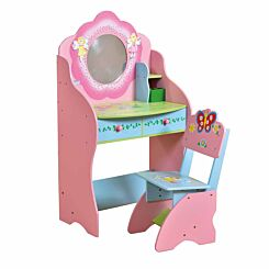 Liberty House Toys Fairy Dressing Table and Chair with Storage