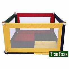 Tikk Tokk Square Fabric Playpen