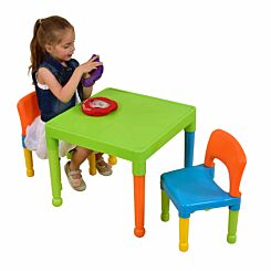 Liberty House Toys Childrens Table and 2 Chairs Set Green