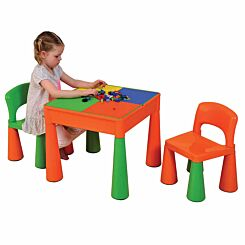 Liberty House Toys Kids Multifunctional Table and Chair Orange