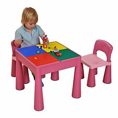 Liberty House Toys Kids Multifunctional Table and Chair Pink