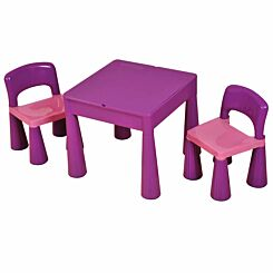 Liberty House Toys Kids Multifunctional Table and Chair Purple