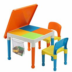 Liberty House Toys Multipurpose Activity Table Set with Storage Bag Orange