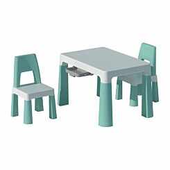 Liberty House Toys Kids Height Adjustable Table and 2 Chairs Green