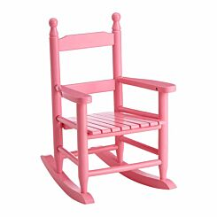 Premier Kids Hardwood Rocking Chair Pink