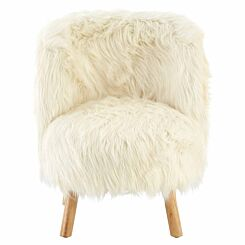 Premier Kids Faux Fur Chair White