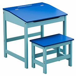 Interiors by PH Childrens Desk and Stool Set Blue