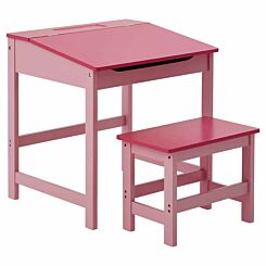 Interiors by PH Childrens Desk and Stool Set Pink