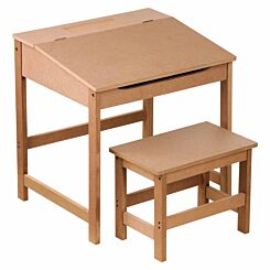 Interiors by PH Childrens Desk and Stool Set Natural