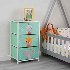 Liberty House Toys Kids Jungle 3 Drawer Storage Unit