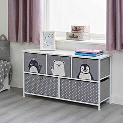 Liberty House Toys Kids Arctic 5 Drawer Storage Unit