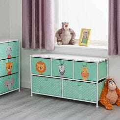 Liberty House Toys Kids Jungle 5 Drawer Storage Unit