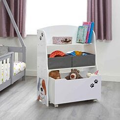 Liberty House Toys Kids Cat and Dog Storage Unit with Roll Out Toy Box