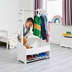 Liberty House Toys Kids Hanging Rail with Extra Storage