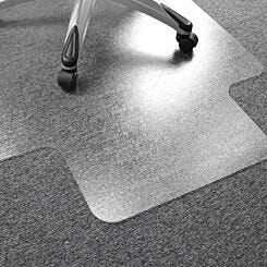 Advantagemat PVC Lipped Chair Mat for Carpets up to 6mm 90x120cm