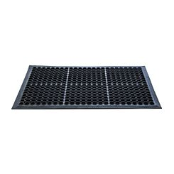 Doortex Open-Top Anti-Fatigue Mat 90 x 150cm Black