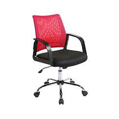 Mesh Back Operator Chair Raspberry