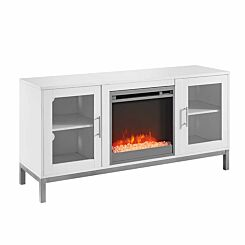 Melfi Modern Fireplace TV Stand White