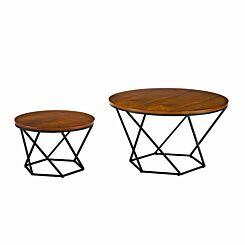 Capua Modern Nesting Tables Set of 2 Black