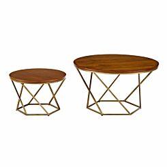 Capua Modern Nesting Tables Set of 2 Gold