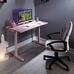 X Rocker Pink Panther Esports Gaming Desk
