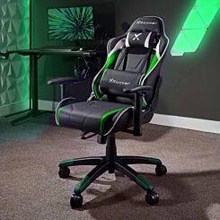 X Rocker Agility Junior Gaming Chair Green