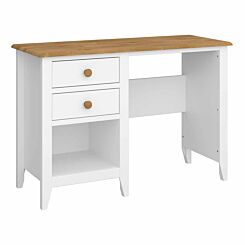 Steens Heston White and Pine Vanity Table Desk